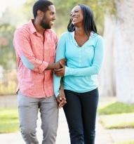 black-couple-walking